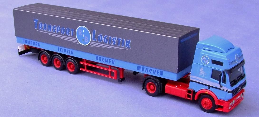 Transport-Logistik, blau