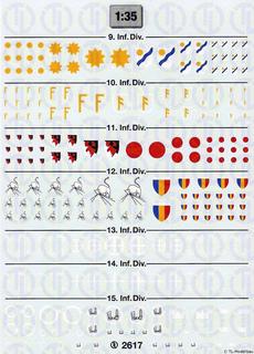 Infanterie Divisionszeichen 1:35