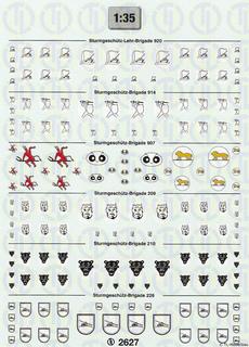 Abteilungsabzeichen für Sturmgeschütze 1:35
