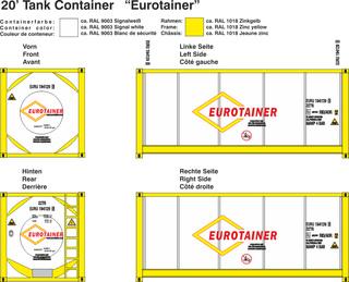 Eurotainer Beschriftungen 1:87
