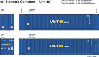 Unit 45.com Beschriftungen 1:87