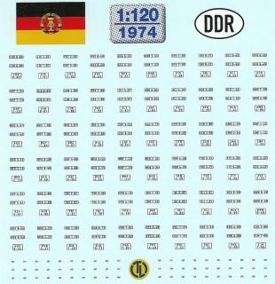 DDR Kfz-Kennzeichen ab 1976 - 1:120