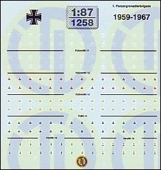 Bundeswehr »Taktische Zeichen 1959-1967« 1:87