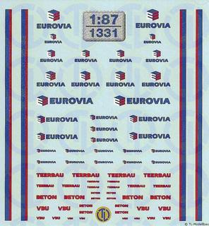 Eurovia Beschriftungen 1:87