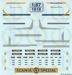Scania Streamline Fahrerhaus Dekor 1:87