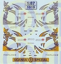 Scania 4er Typ Fahrerhaus Dekor 1:87