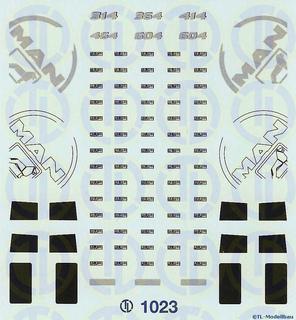 MAN F90 Fahrerhaus Dekor 1:87