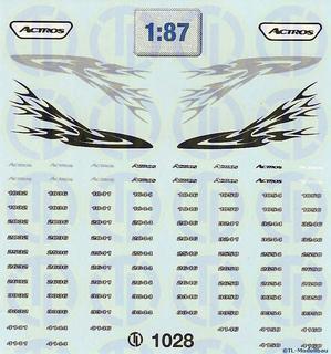 MB-Actros `02 Fahrerhaus Dekor 1:87
