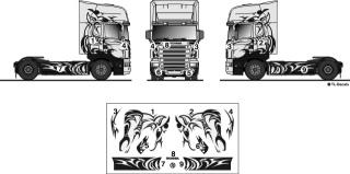 "Scania Fahrerhaus Dekor ""Greif in Aktion"" 1:87"