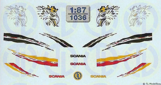 Scania Fahrerhaus Dekor 1:87