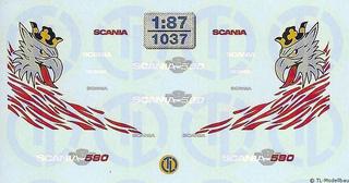 Scania Dekor für das lange Fahrerhaus 1:87