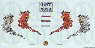 """Scania Fahrerhaus Dekor """"Greif in schlanker..."""