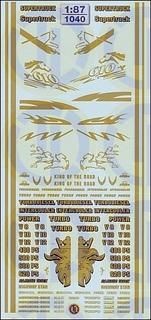 Fahrerhaus-Dekore »Gold« 1:87