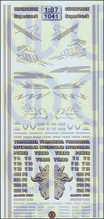 Fahrerhaus-Dekore in »Silber« 1:87
