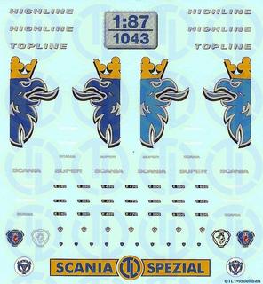 Scania Baureihe »R« Fahrerhaus Dekor 1:87