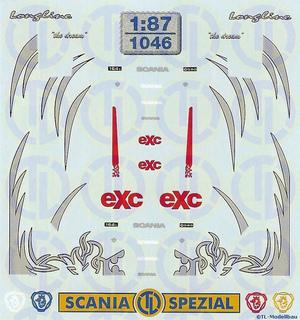 Scania »Longline« Fahrerhaus Dekor 1:87