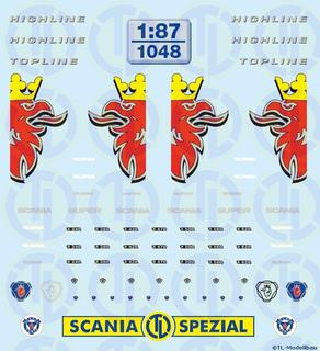 Scania Baureihe »R620« Fahrerhaus Dekor 1:87
