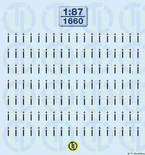 Verschlüsse für Gardinenplanen-Auflieger 1:87