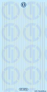 Lkw-Reflexstreifen, silber 1:87