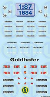 Goldhofer Beschriftungen 1:87