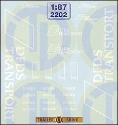DFDS Transport Beschriftungen 1:87