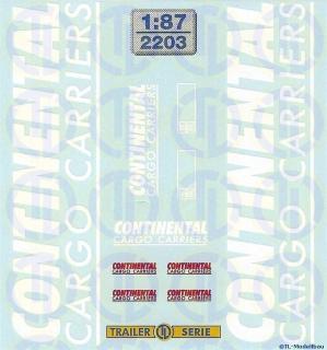 Continental Cargo Carries Beschriftungen 1:87