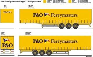 P & O Ferrymasters Beschriftungen 1:87