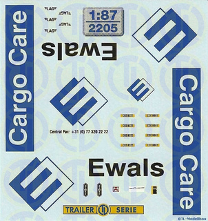 Ewals Cargo Care Beschriftungen 1:87