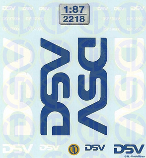 2238 Decals DSV Daily Pallet 1:87