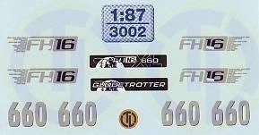 Volvo Fahrerhaus Dekor 1:87