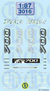 Volvo 700 Beschriftungen 1:87