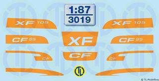 DAF XF105 und CF85 FH-Dekore 1:87
