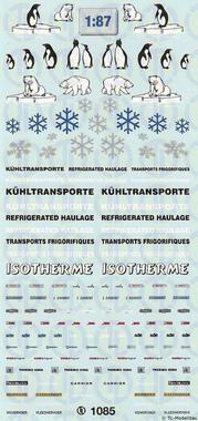 Decalbogen für Kühlfahrzeuge 1:87