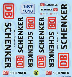 DB-Schenker Beschriftungen 1:87
