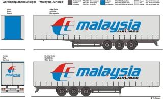 Malaysia Airlines (Cargo) Beschriftungen 1:87