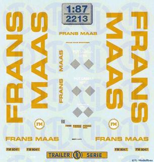 Frans Maas Beschriftungen 1:87