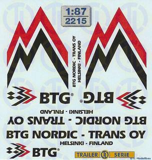 BTG Nortic -Trans OY Beschriftungen 1:87