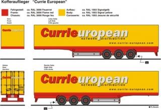 Currie European Beschriftungen 1:87
