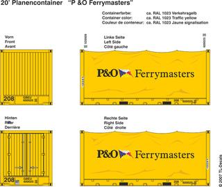 P&O Ferrymasters Beschriftungen 1:87