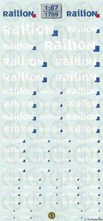 Railion Decalbogen 1:87