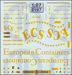 ECS European Containers 1:87