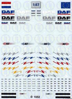 DAF Fahrerhaus Dekorbogen 1:87
