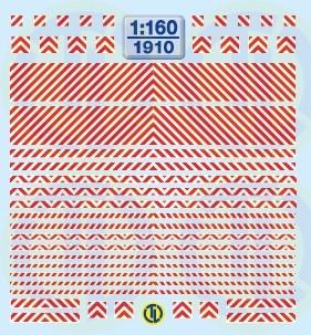 Warnstreifen Rot/Weiss 1:160