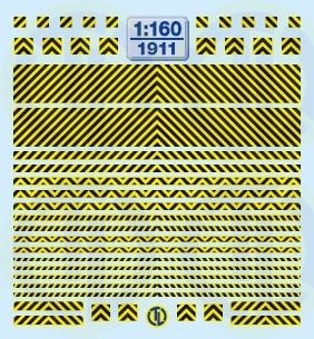 Warnstreifen Schwarz/Gelb 1:160