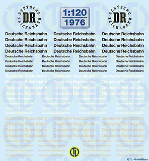 Deutsche Reichsbahn Schriftzüge 1:120