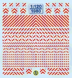 Warnstreifen Rot/Weiss 1:120