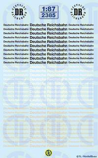Deutsche Reichsbahn Schriftzüge 1:87