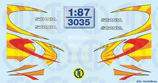 Scania Fahrerhaus Dekorbogen 1:87