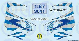 Volvo Fahrerhaus Dekorbogen 1:87