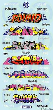 Graffiti Bogen 1:87